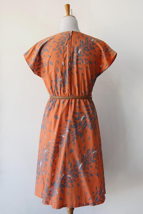 Image of SOLD Floating Leaves Comfy Cotton Dress