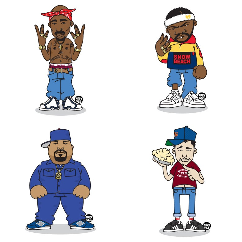 Image of Evolution Of The B-Boy Series 9 including Big Pun, Raekwon, Tupac Shakur & Ad Rock