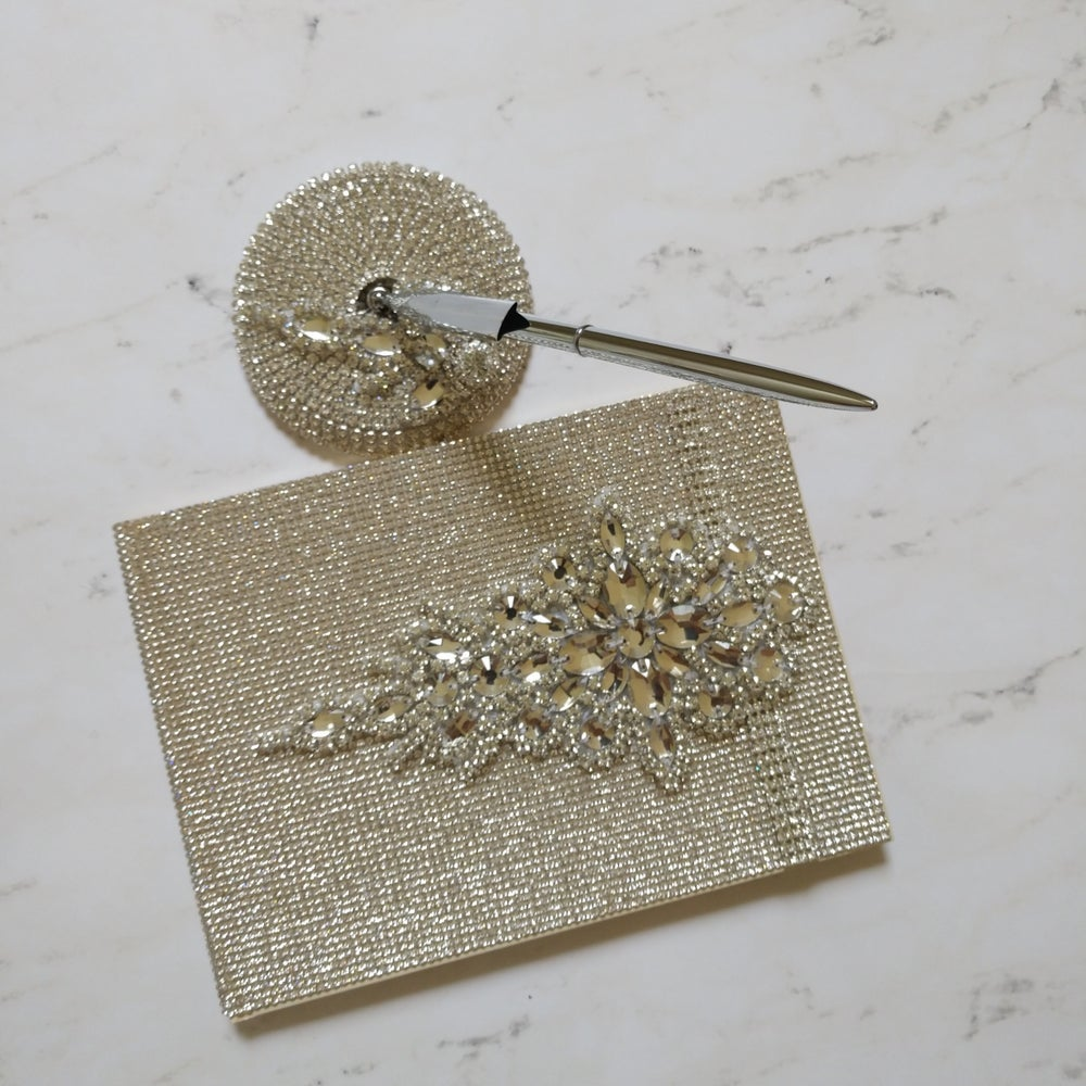 """Image of """"Rachelle"""" Bling Guest Book"""