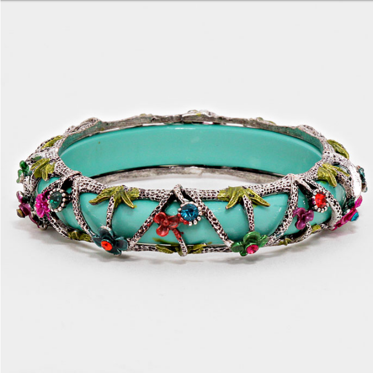 Image of Floral Filigree Bracelet