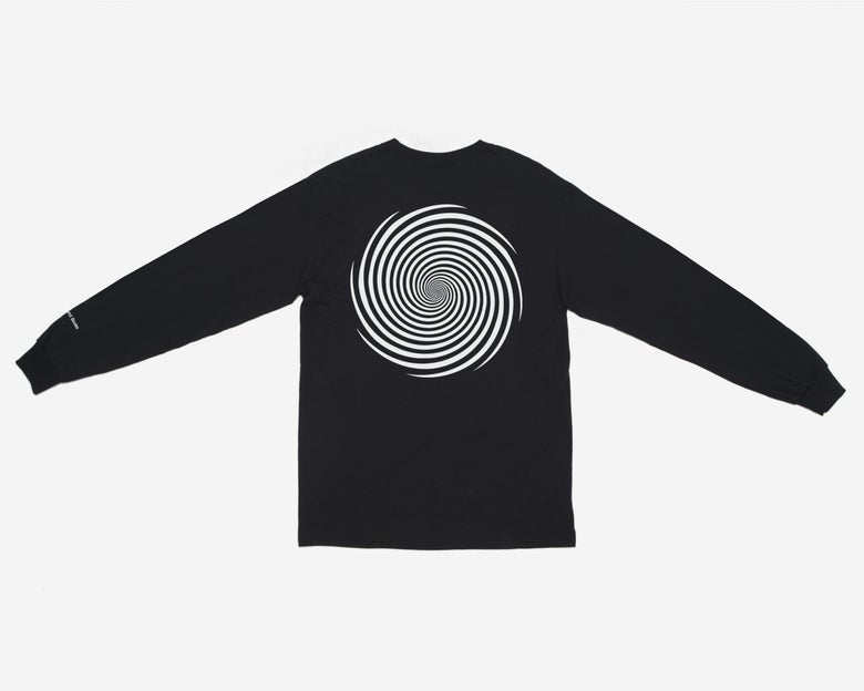 Image of L/S Vortex Pocket Tee - Black / White