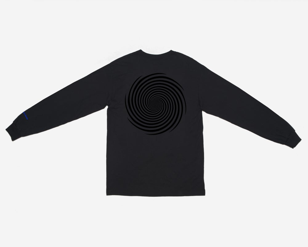 Image of L/S Vortex Pocket Tee - Black / Black