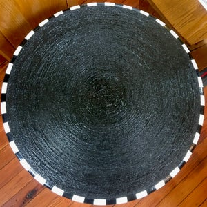 Image of Striped Newspaper Table by Ms. M.