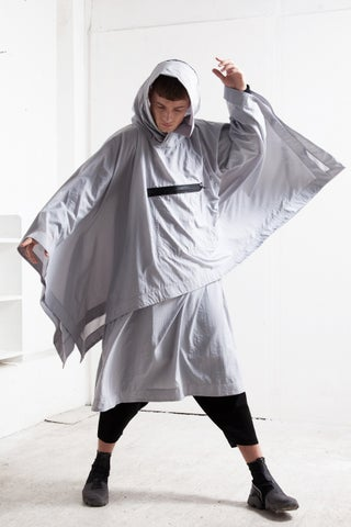 WATERPROOF PONCHO GREY