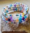 Rainbow Cracked Agate Wrap Bracelet
