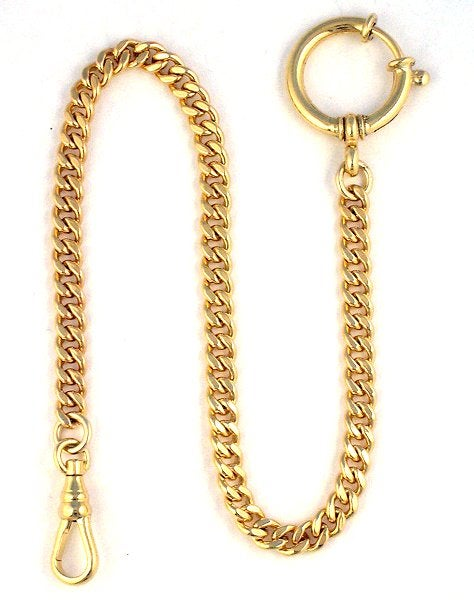 "Image of High Quality 10″ Gold Filled ""Sport"" Pocket Watch Chain with Spring Ring WC10GFL"