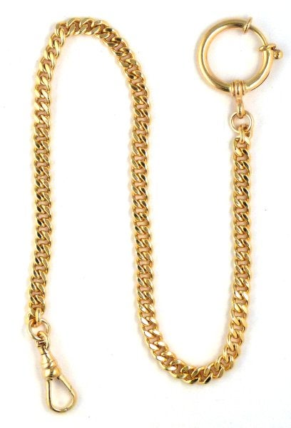 "Image of High Quality 12″ Gold Filled ""Sport"" Pocket Watch Chain with Spring Ring WC12GFL"