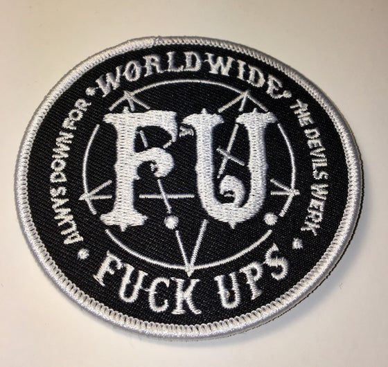 Image of WORLD WIDE FUCK UPS CIRCLE PATCH