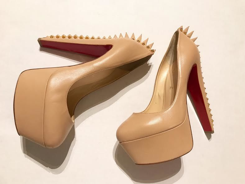 Image of CHRISTIAN LOUBOUTIN SPIKE PUMPS