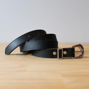 "Image of Skinny Black Belt 33-39"""