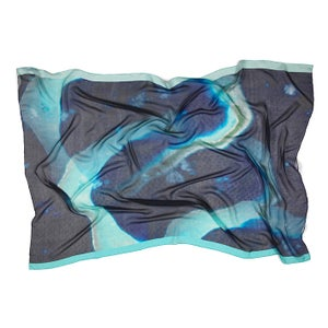 Image of As with by Wanderlust Roxana | Blue Atoll Silk chiffon sarong