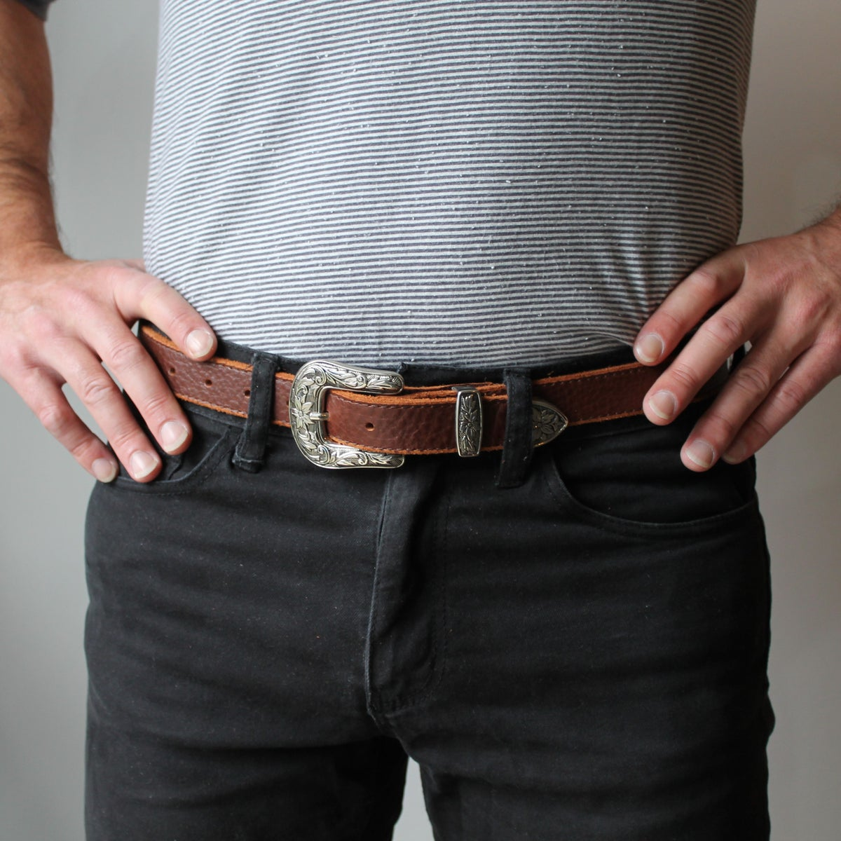 Image of Wild West Belt in Chestnut 30-35""