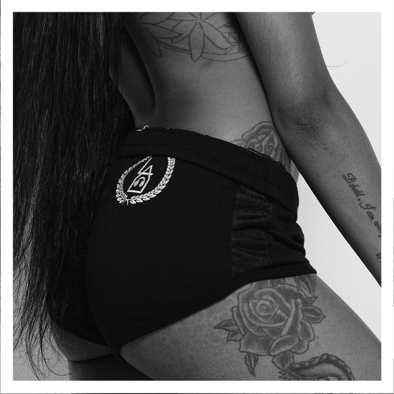 Image of LAU | Black On Black Shorts