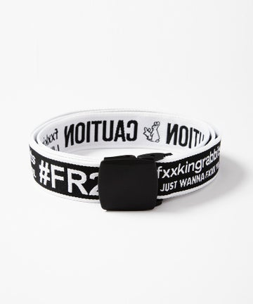 Image of FR2 - EMBROIDERY LONG BELT (WHITE/BLACK)