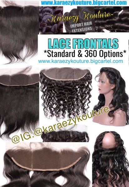 Image of LACE FRONTALS - (Standard & 360 Options)