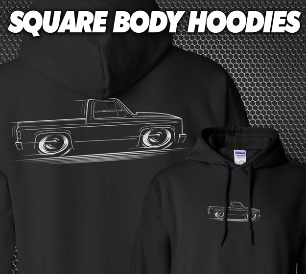 Image of Square Body Chevy Truck T-Shirts Hoodies Banners