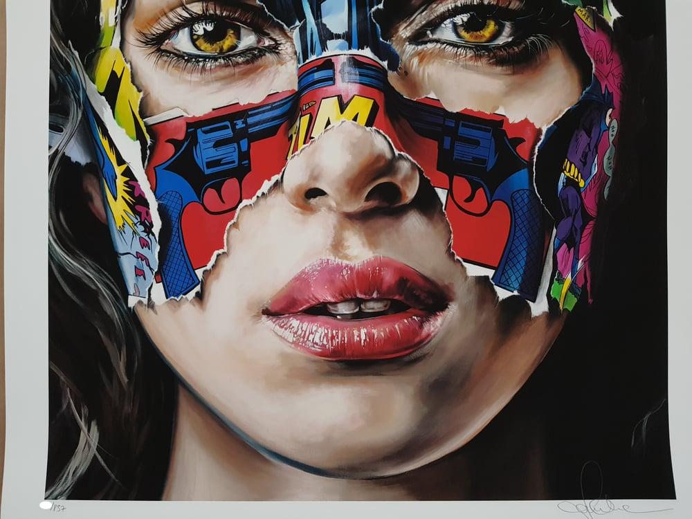 """Image of SANDRA CHEVRIER - """"LA CAGE JE N`PAS PEUR"""" - 80CM X 62CM"""