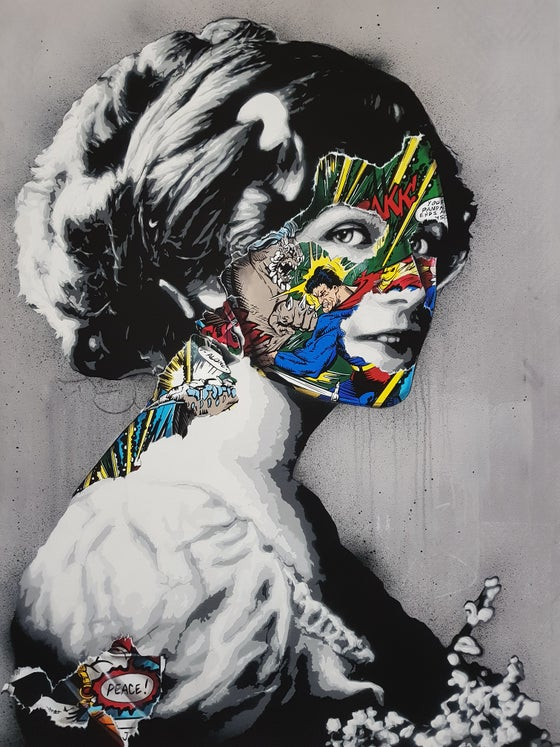 "Image of SANDRA CHEVRIER & MARTIN WHATSON - ""PEACE"" - LTD ED 20 - 111CM X 85CM"