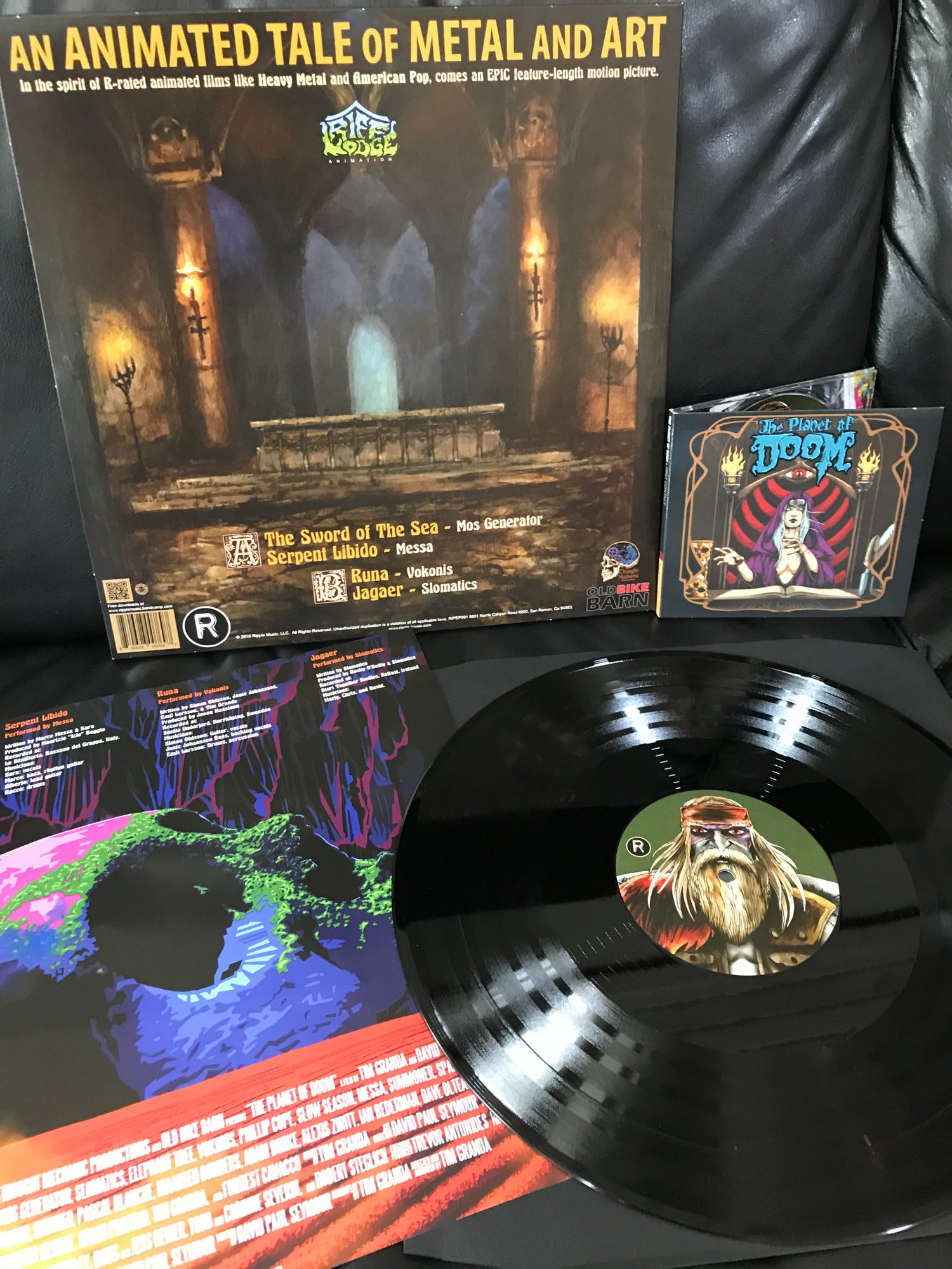 "Image of Planet of Doom: First Contact ""Midnight Black"" Vinyl EP"