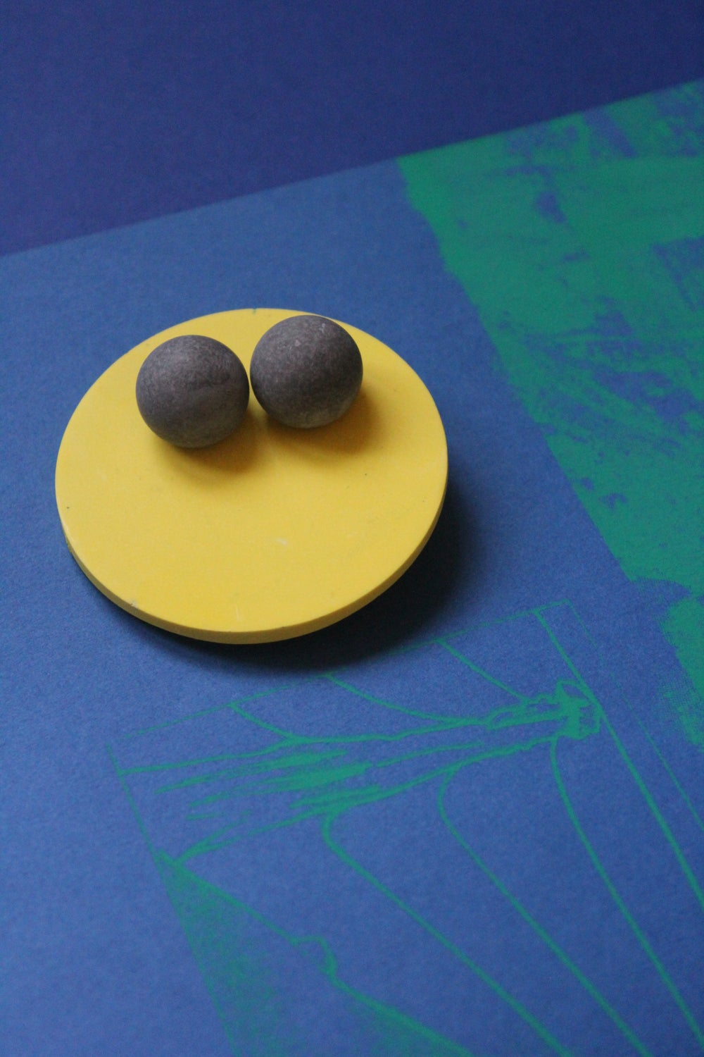 Image of Bright & Brutal // Yellow & Teal brooches