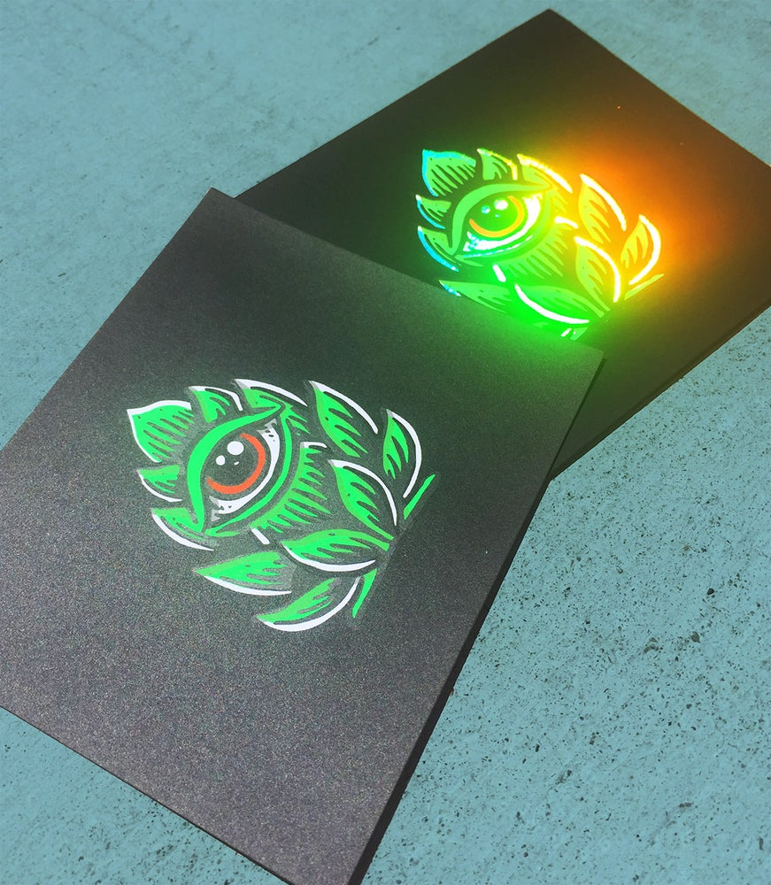 "Image of ""Hop Eye"" mini-print & foils"