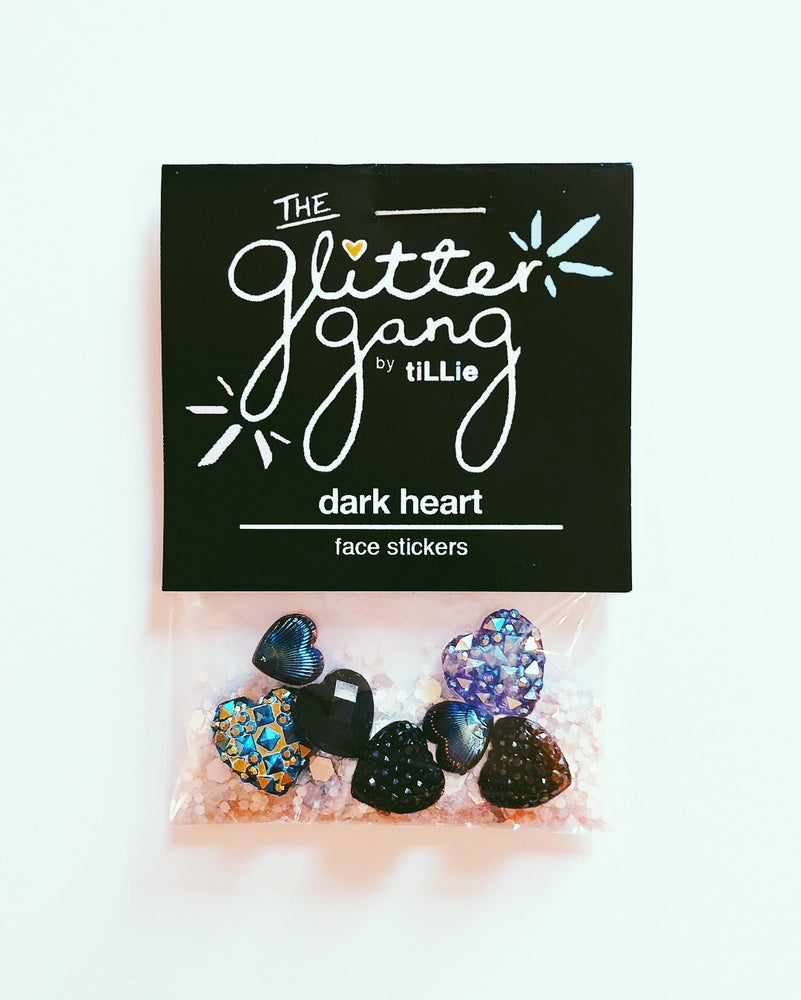 Image of The Glitter Gang Facial Stickers - Black Heart