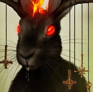 """Image of BAPHALOPE The Hell-Bunny. 11"""" X 16"""""""