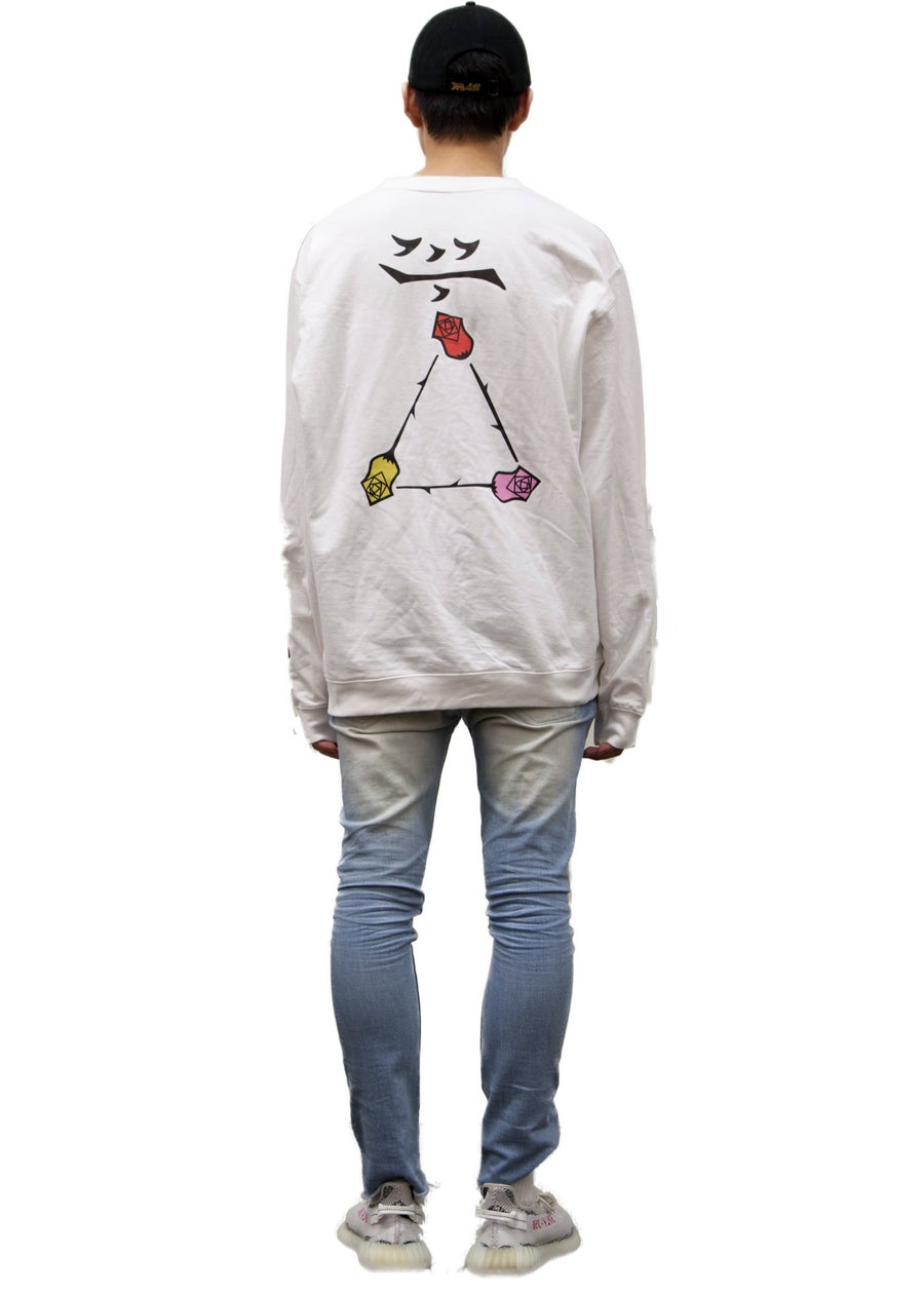 Second Image of chalk white crewneck