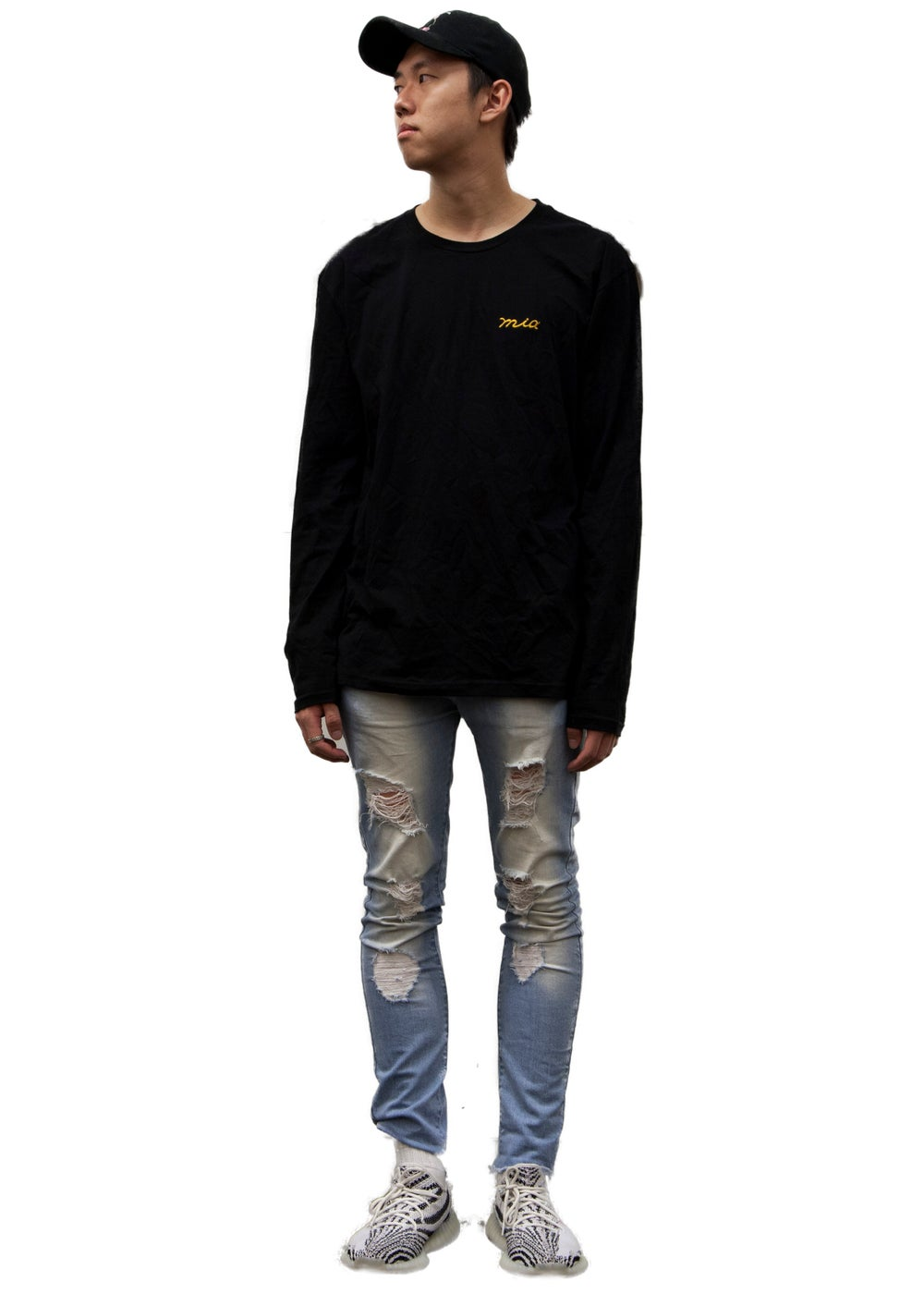 Image of obsidian black long sleeve