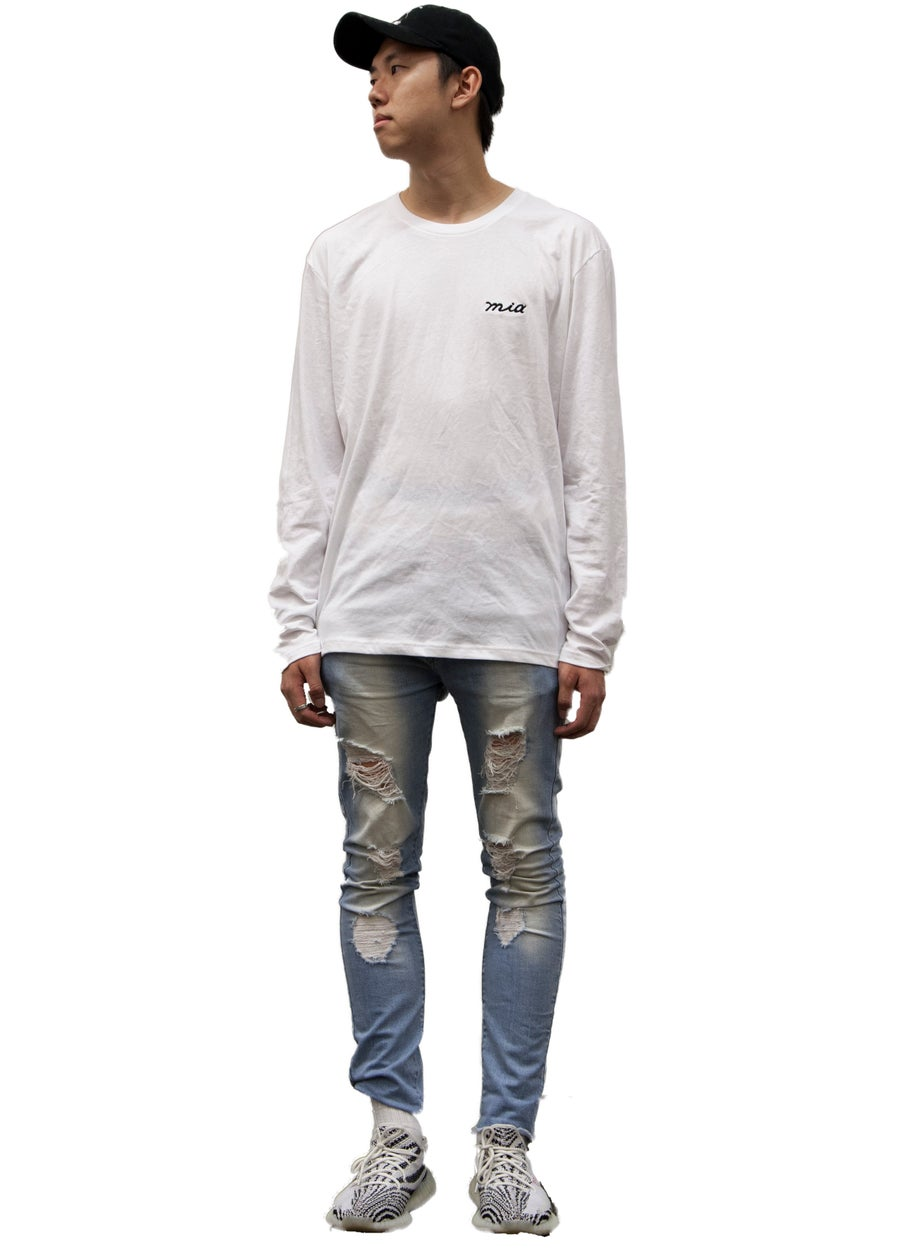 Image of chalk white long sleeve