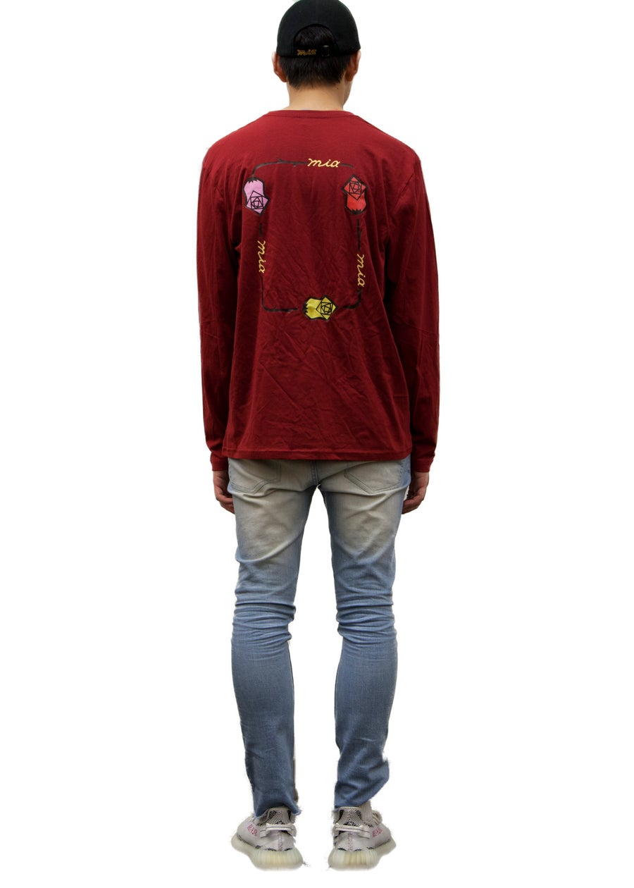 Second Image of burgundy long sleeve