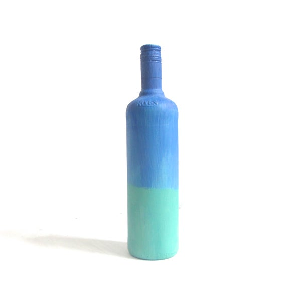 Image of BLEU DU MER  - BOTTLE PAINTING