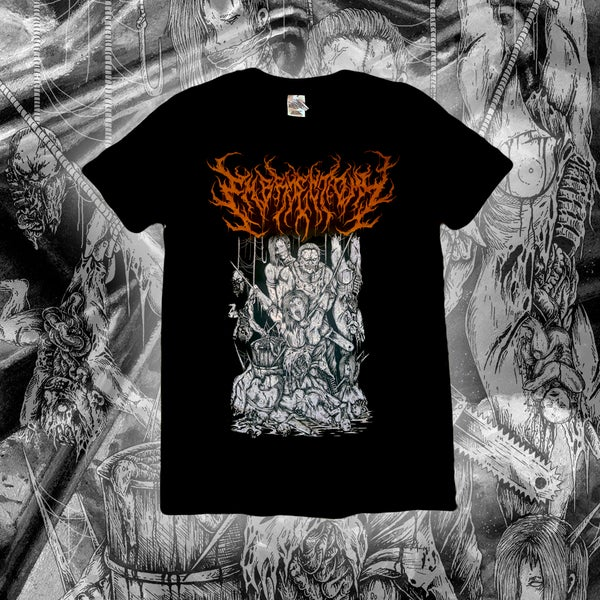 "Image of ""Chainsaw Laceration"" T-shirt"