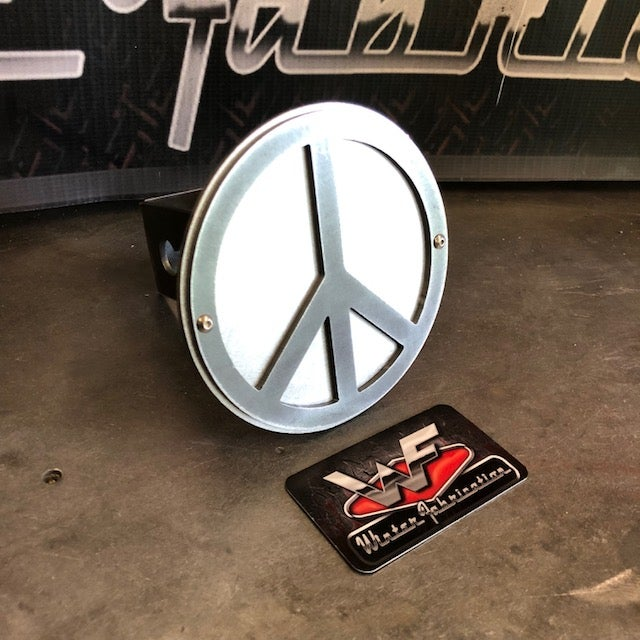 Image of Peace Sign Hitch Cover - Two Layer