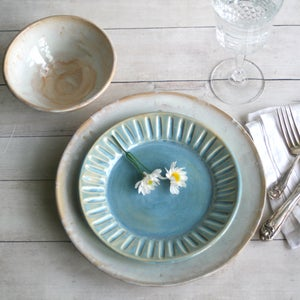 Image of RESERVED for Kathleen and Bogie's Wedding Registry Custom Dinnerware Place Setting