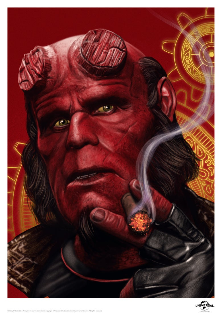 "Image of Hellboy 11.7"" x 16.5"" (officially licensed)"