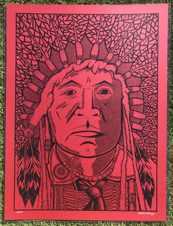 "Image of ""The Chief"" Red Edition of 15"