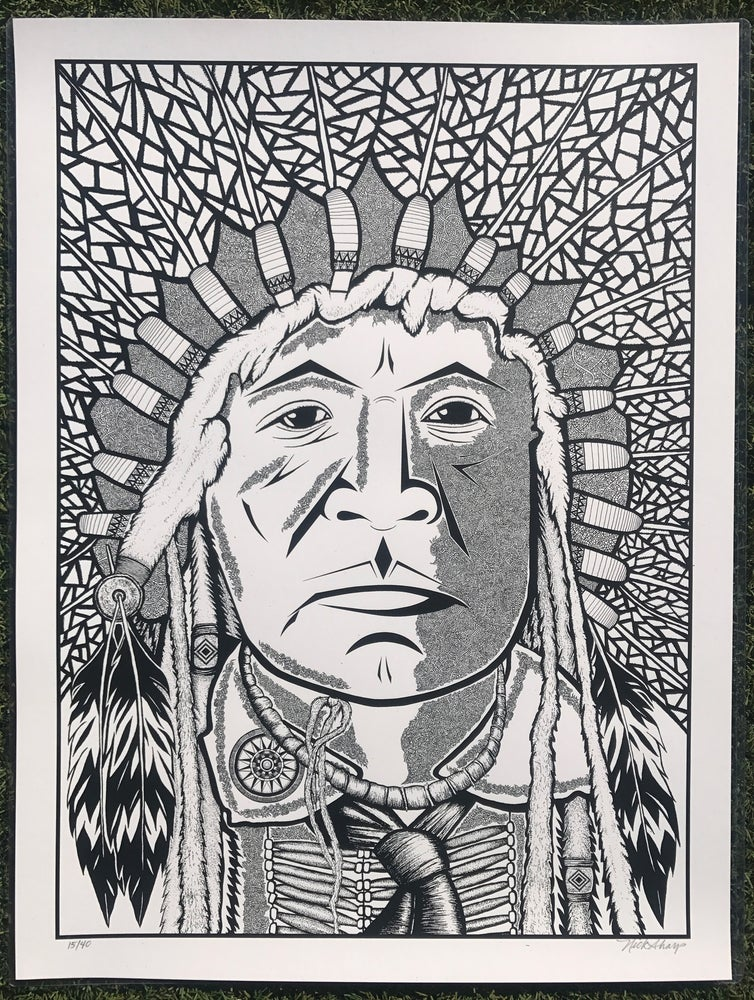 "Image of ""The Chief"" White Edition of 40"