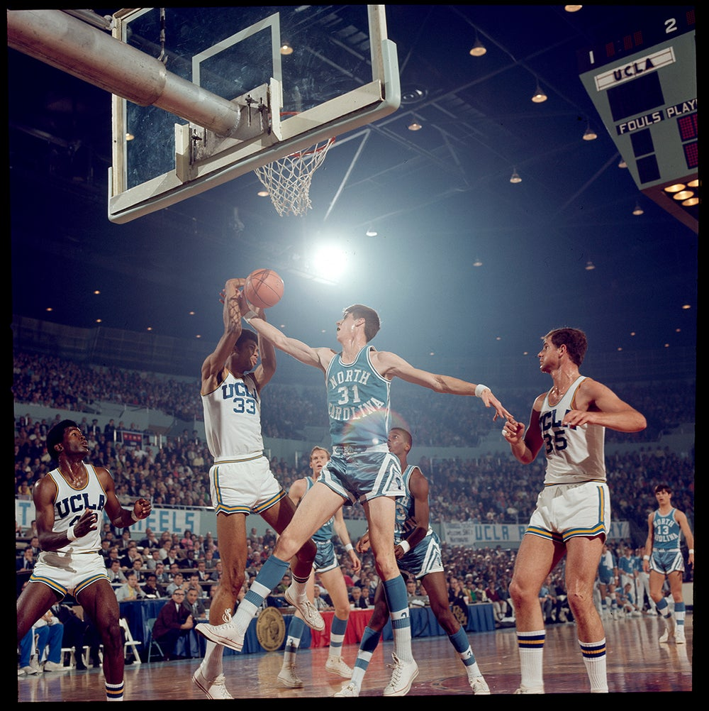 Image of Mr. Kareem Abdul Jabbar (Lew Alcindor) in the 1968 NCAA Finals game