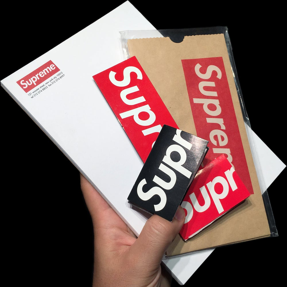 Image of 0000 Box Logo Magnet, Notepad, Tall Boy Bags, & Rolling Papers