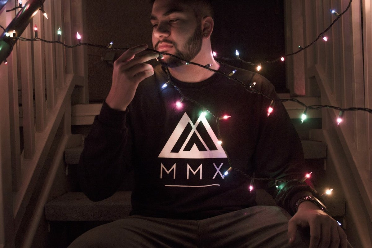 Image of Black Long Sleeve MMX Tee