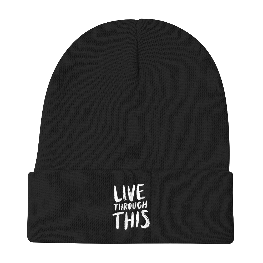 Image of Unisex Brushstroke Beanie - Black