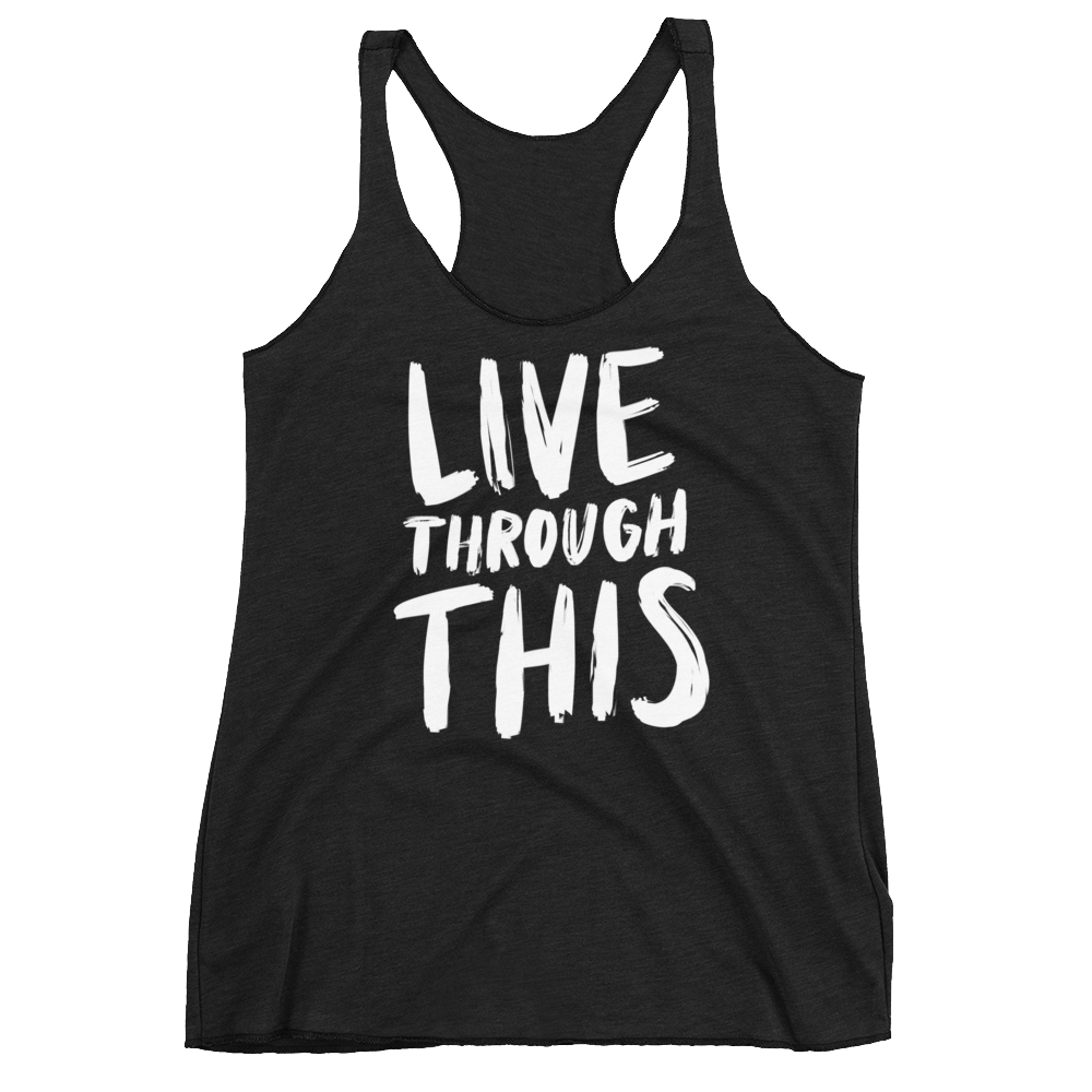 Image of Women's Brushstroke Racerback Tank - Black