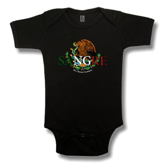 Image of Mexican Sangre Onesies (Black)