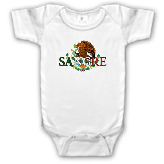 Image of Mexican Sangre Onesie (white)