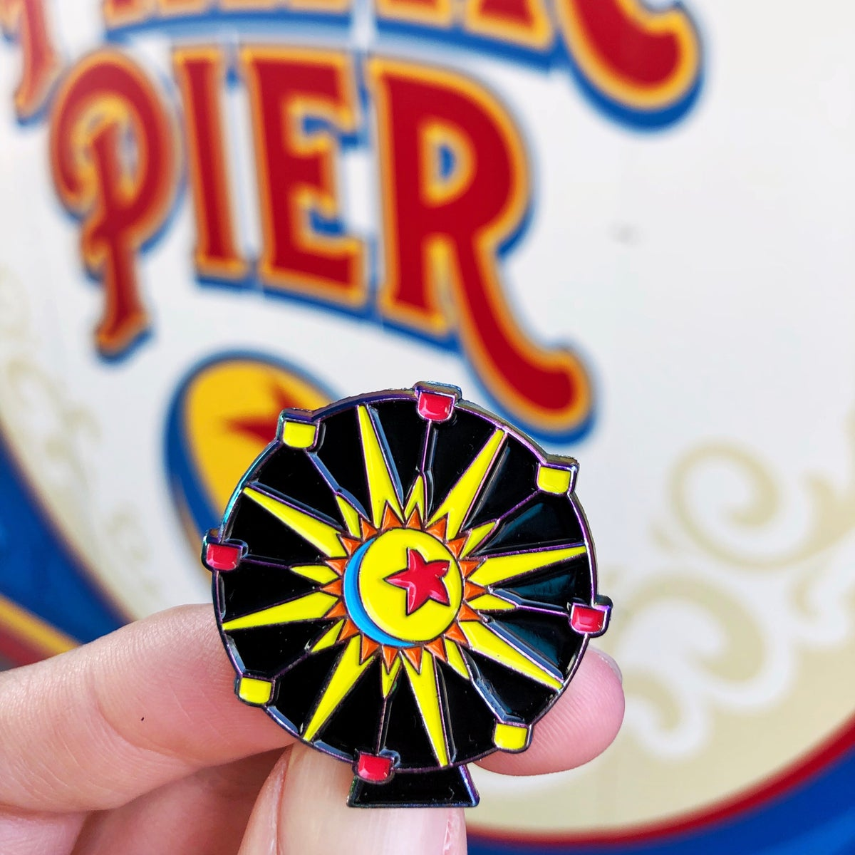 Image of Luxo Wheel LE Rainbow Spinner Pin