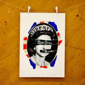 Image of God Save The Florrie Jamie Reid Signed Print (Limited Print)