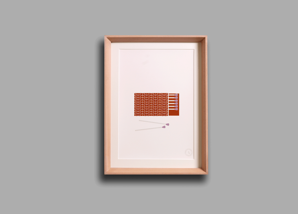 Image of 'Perfect Match' Screenprint