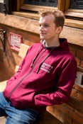Image of Adult Zipped Maroon Hoodie