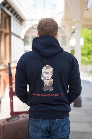 Image of Adult Premium Hoody - Navy and Red